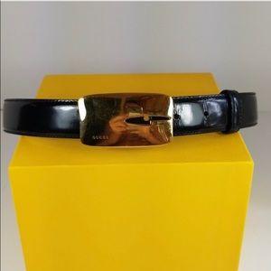 Vintage Gucci Tom Ford Gold Buckle Belt